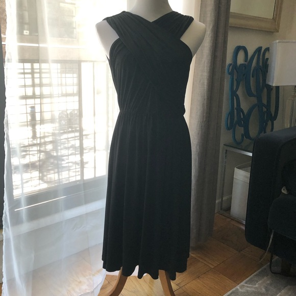 a4a5678b29acf Calvin Klein crossover black cocktail dress